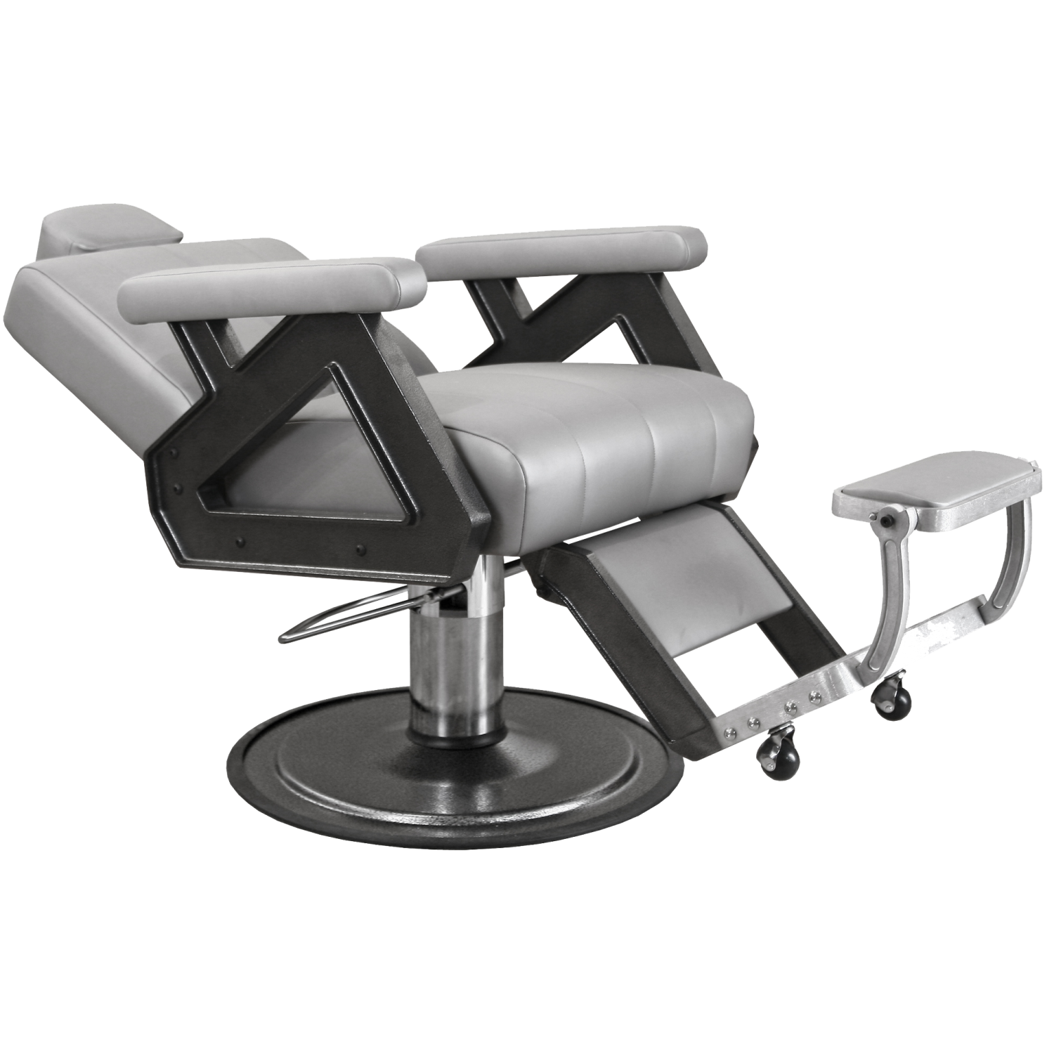 Collins Caliber Barber Chair with Silver Arms