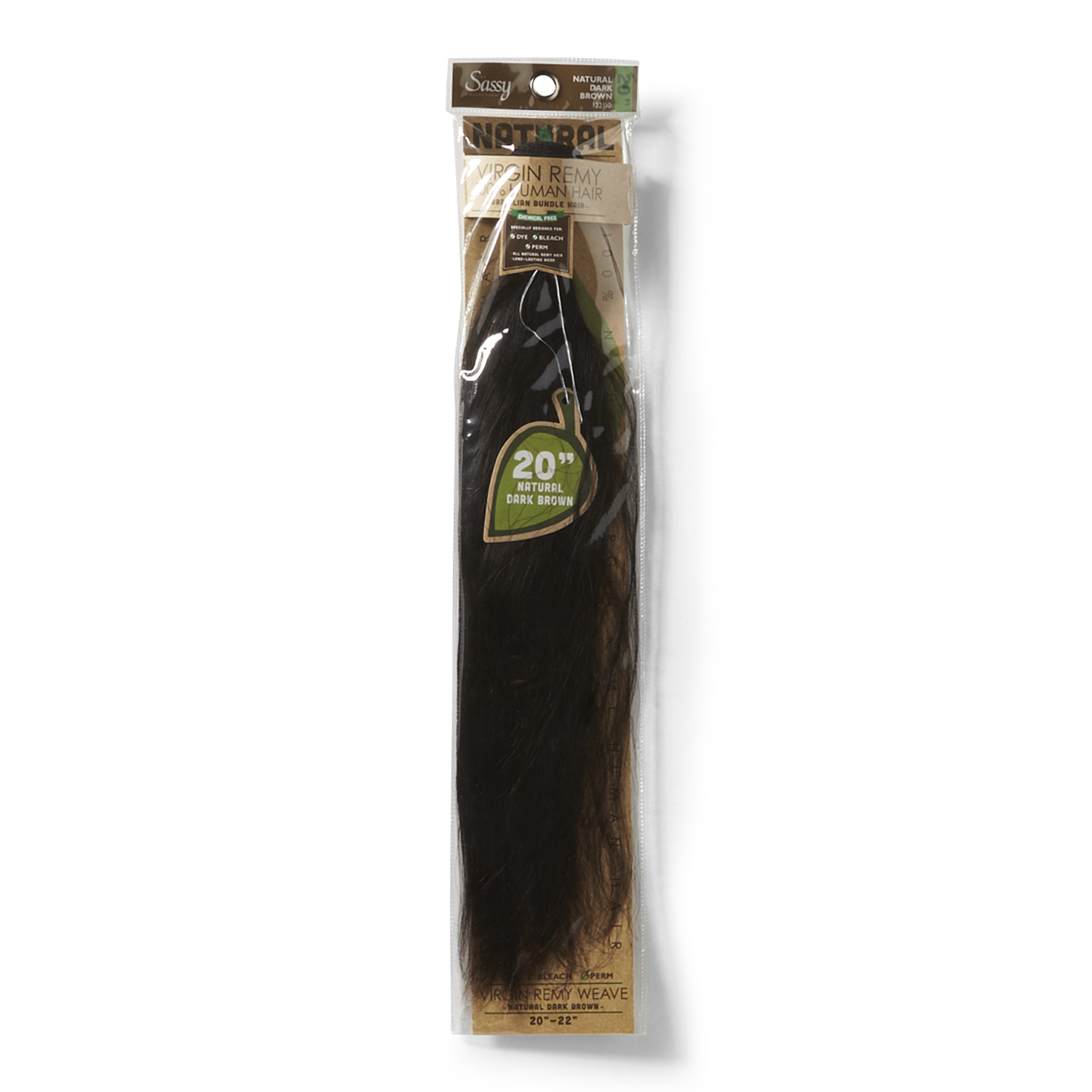 Sassy natural dark brown 20 inch virgin human hair extension pmusecretfo Choice Image