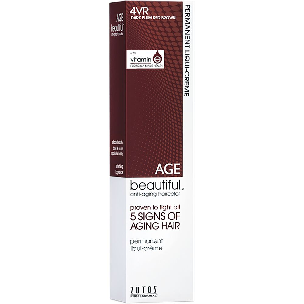 4vr Dark Plum Red Brown Permanent Liqui Creme Hair Color