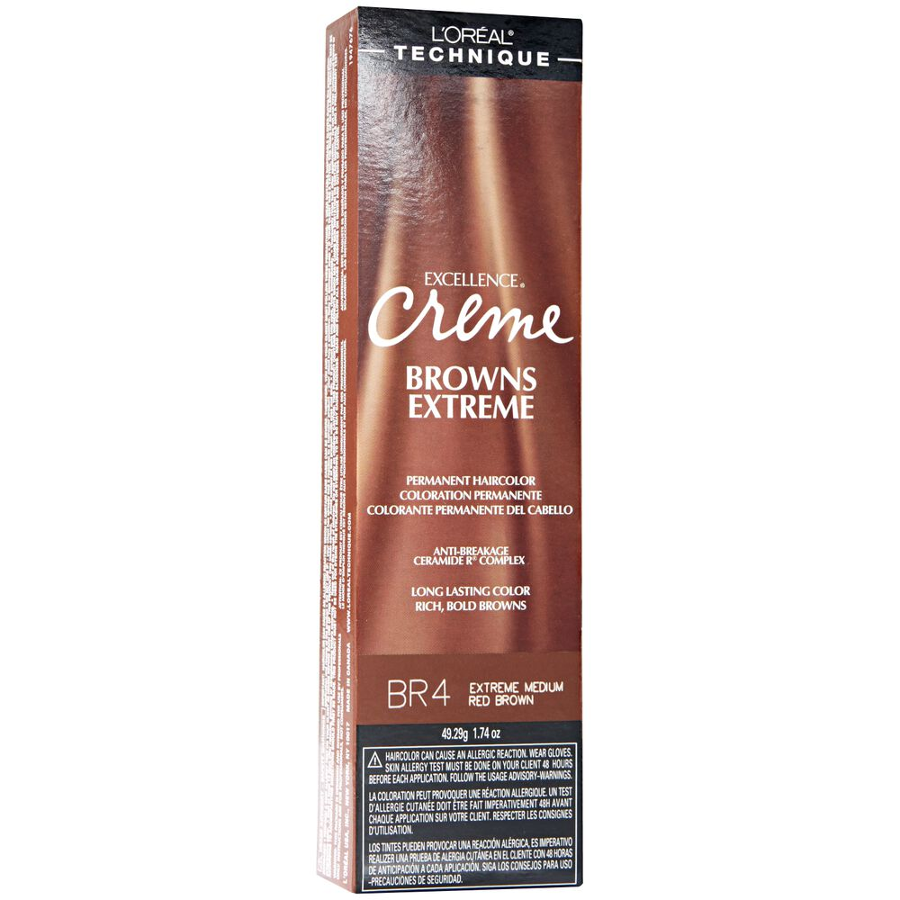 Loreal Br5 Light Auburn Brown Permanent Creme Hair Color By