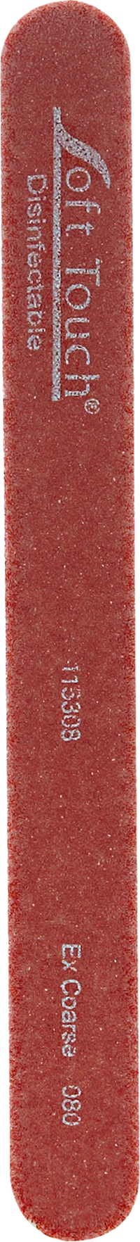 St.Tropez Red Mylar X-Coarse Nail File 80 Grit