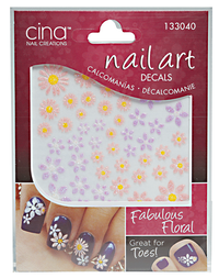 Fabulous Floral 3-D Nail Art Decals