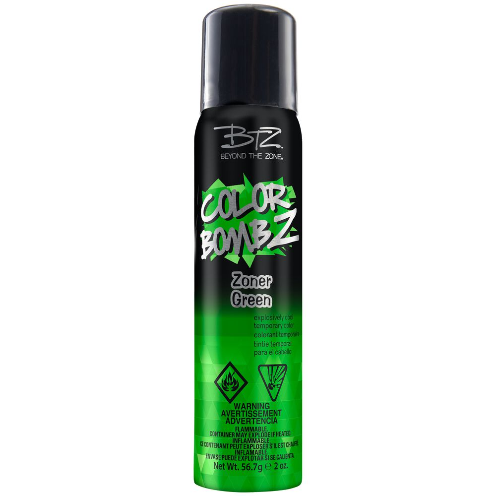 Green Hair Temporary Color Spray From The Party Colour White Wild In Silver
