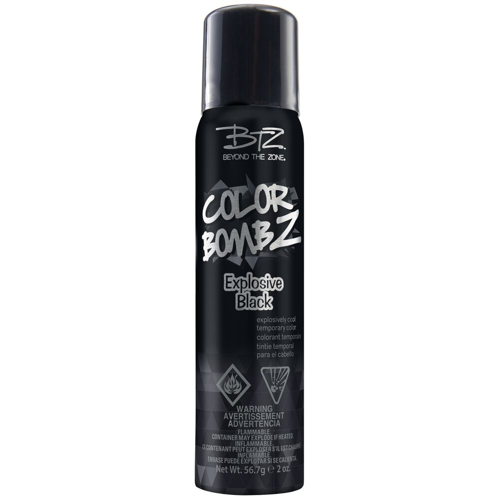 Explosive Black Color Bombz Temporary Hair Color Spray By Beyond