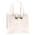 Hair Care Tote with Glitter Bow Ivory Pink