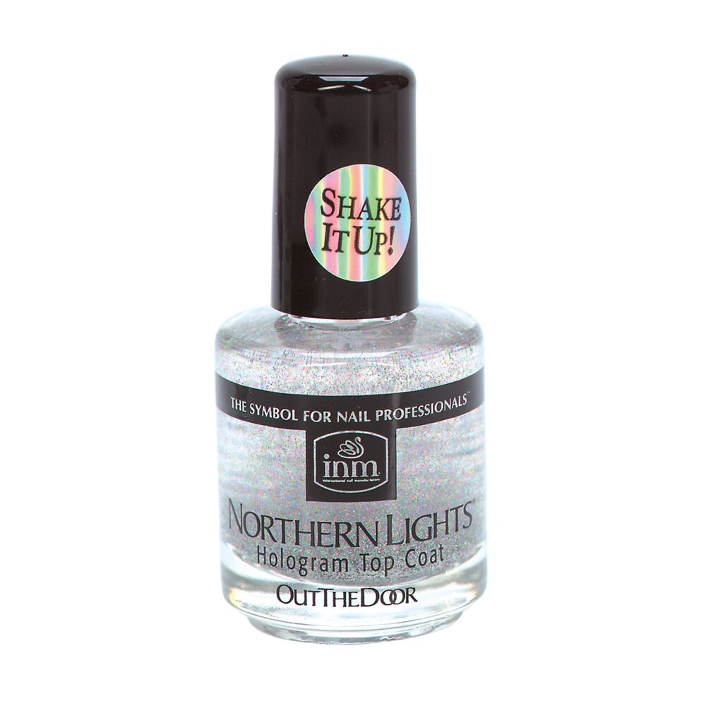 INM Northern Lights Hologram Top Coat