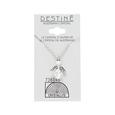 Destine Austrian Crystal AB Angel Necklace