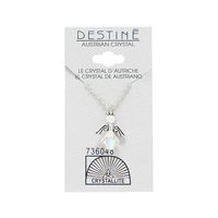 Destine Austrian Crystal AB Angel Necklace