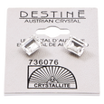 Destine Austrian Cut Square Post Earrings