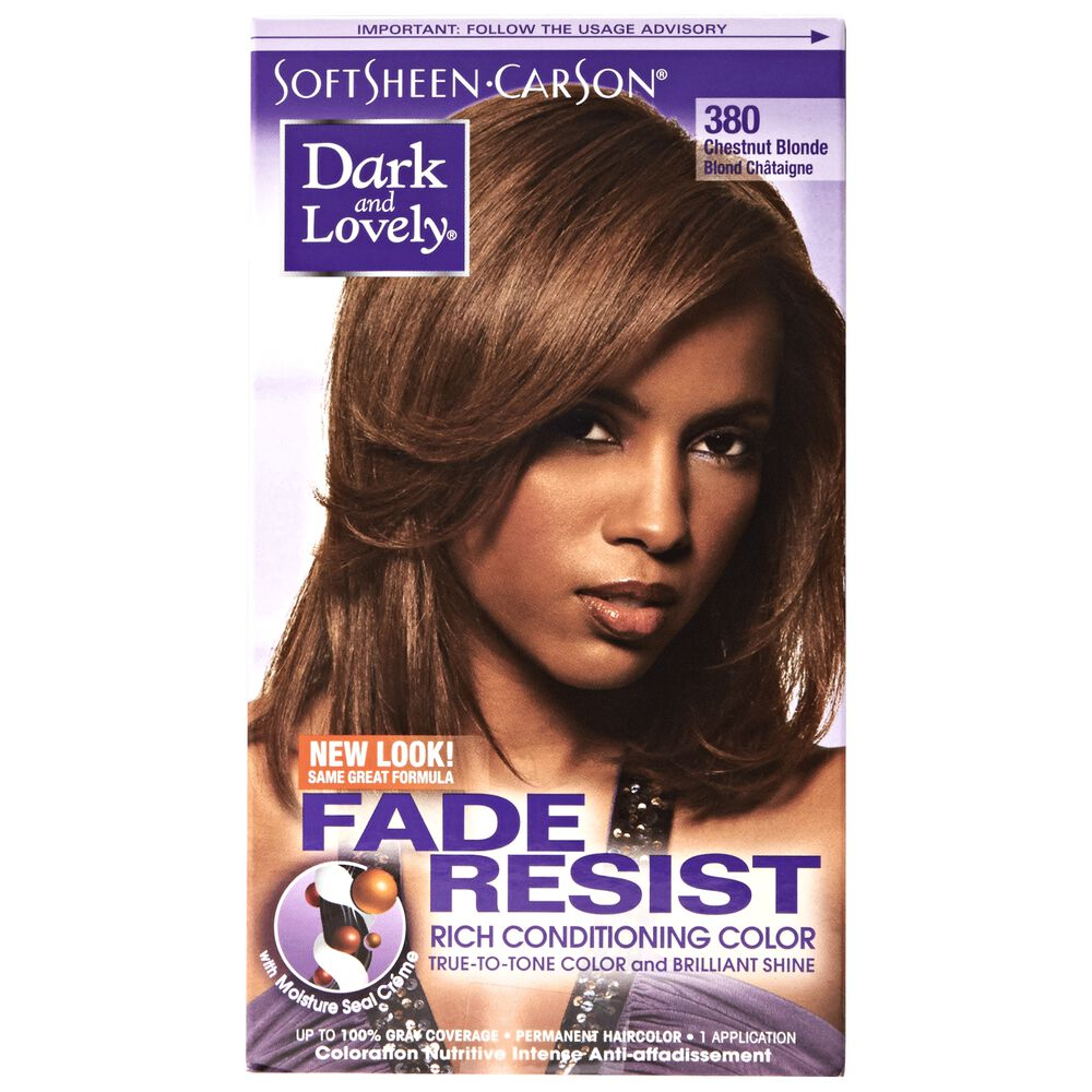 Fade Resistant Chestnut Blonde Permanent Hair Color By Dark Lovely