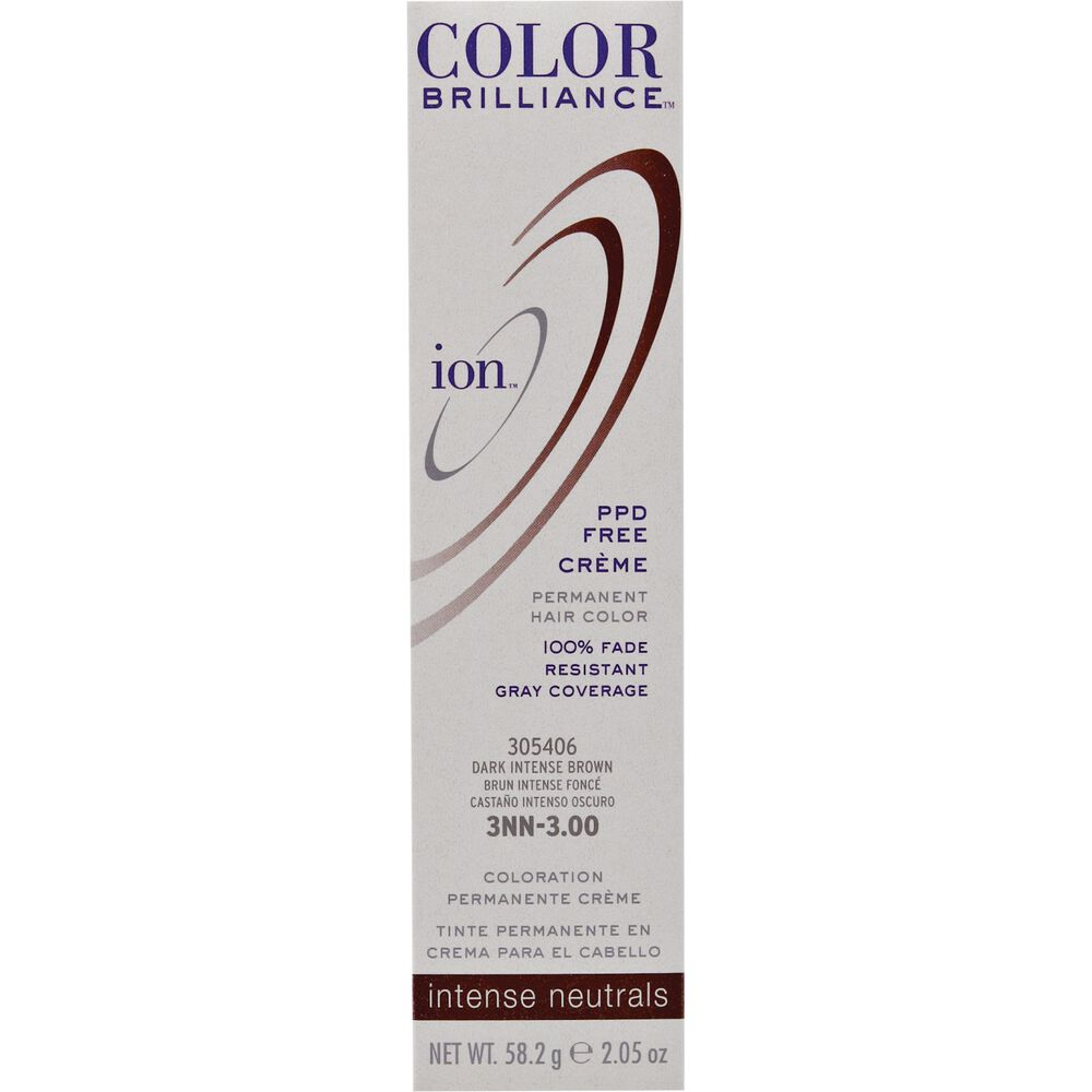 Ion 3nn Dark Intense Brown Permanent Creme Hair Color By Color