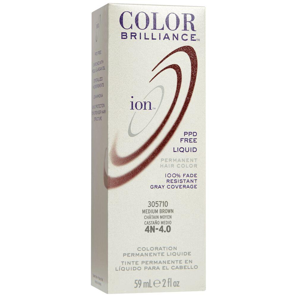 Ion 4n Medium Brown Permanent Liquid Hair Color By Color Brilliance