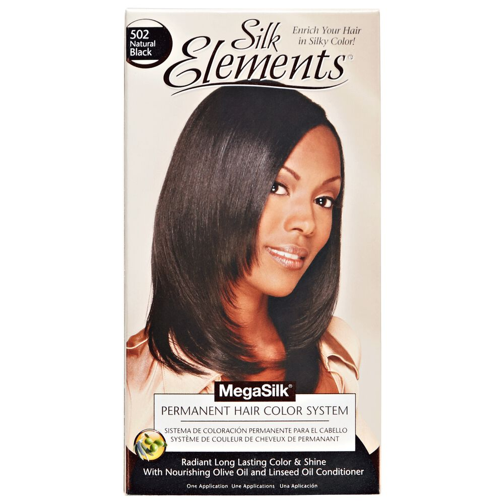 Silk Elements Natural Black Permanent Hair Color By Megasilk