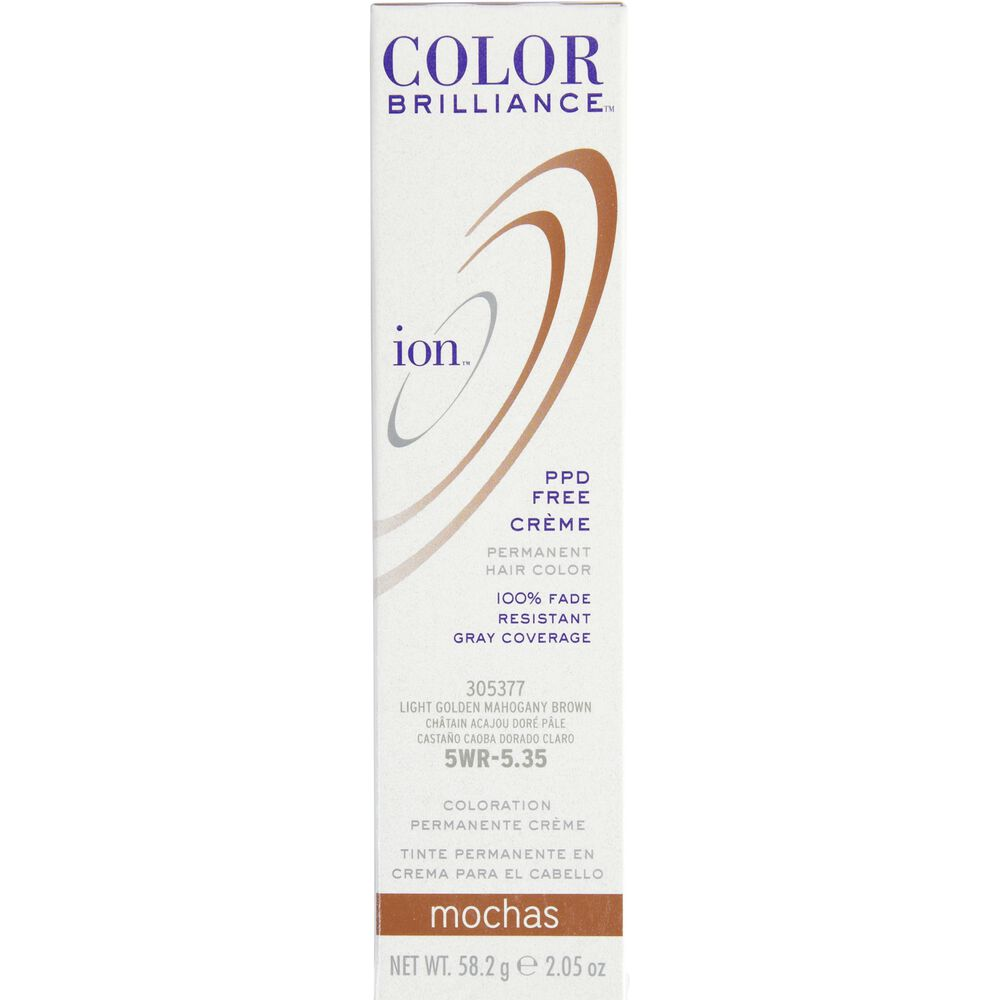 Ion 5wr Light Gold Mahogany Brown Permanent Creme Hair Color By