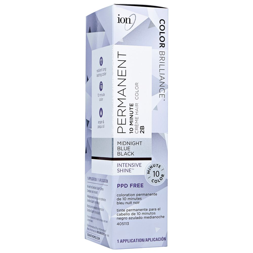 Ion 2b Midnight Blue Black Permanent Creme Hair Color By Color