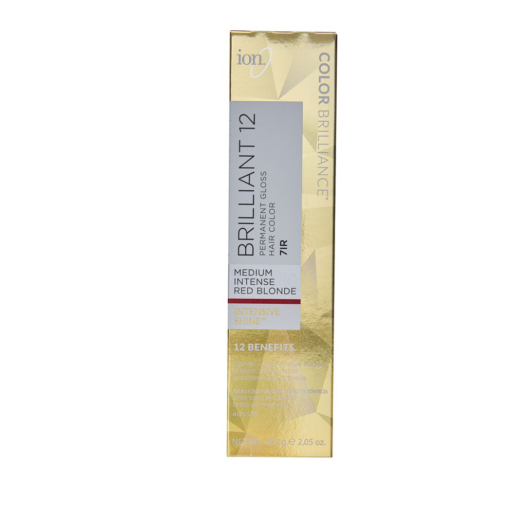 Ion 7g Medium Golden Blonde Permanent Gloss Hair Color By Color