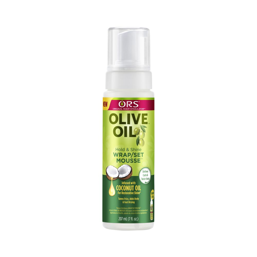 Organic Root Stimulator Olive Oil Wrap Set Mousse Natural Hair