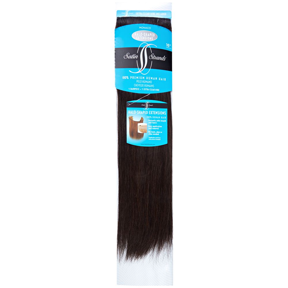 Satin Strand Halo Shaped Monaco 16 Inch Human Hair Extensions