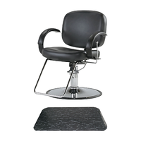 Layla All-Purpose Chair with Black Marbleized Rectangle Mat