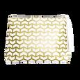 White & Gold Tassel Clutch