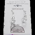 Clear Round Rondelle Dangle Earrings