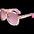 Rose Gold & Brown Aviator Sunglasses