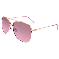 Rose Gold & Brown Aviator Sunglasses