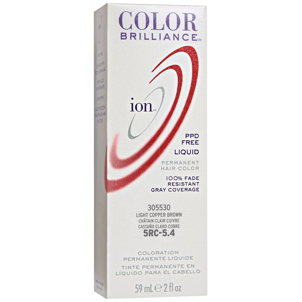 Ion By Color Brilliance 5r Light Red Brown Permanent Liquid Hair