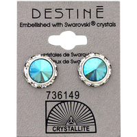 Destine Aqua Aura RS Rivoli Crystal Earring