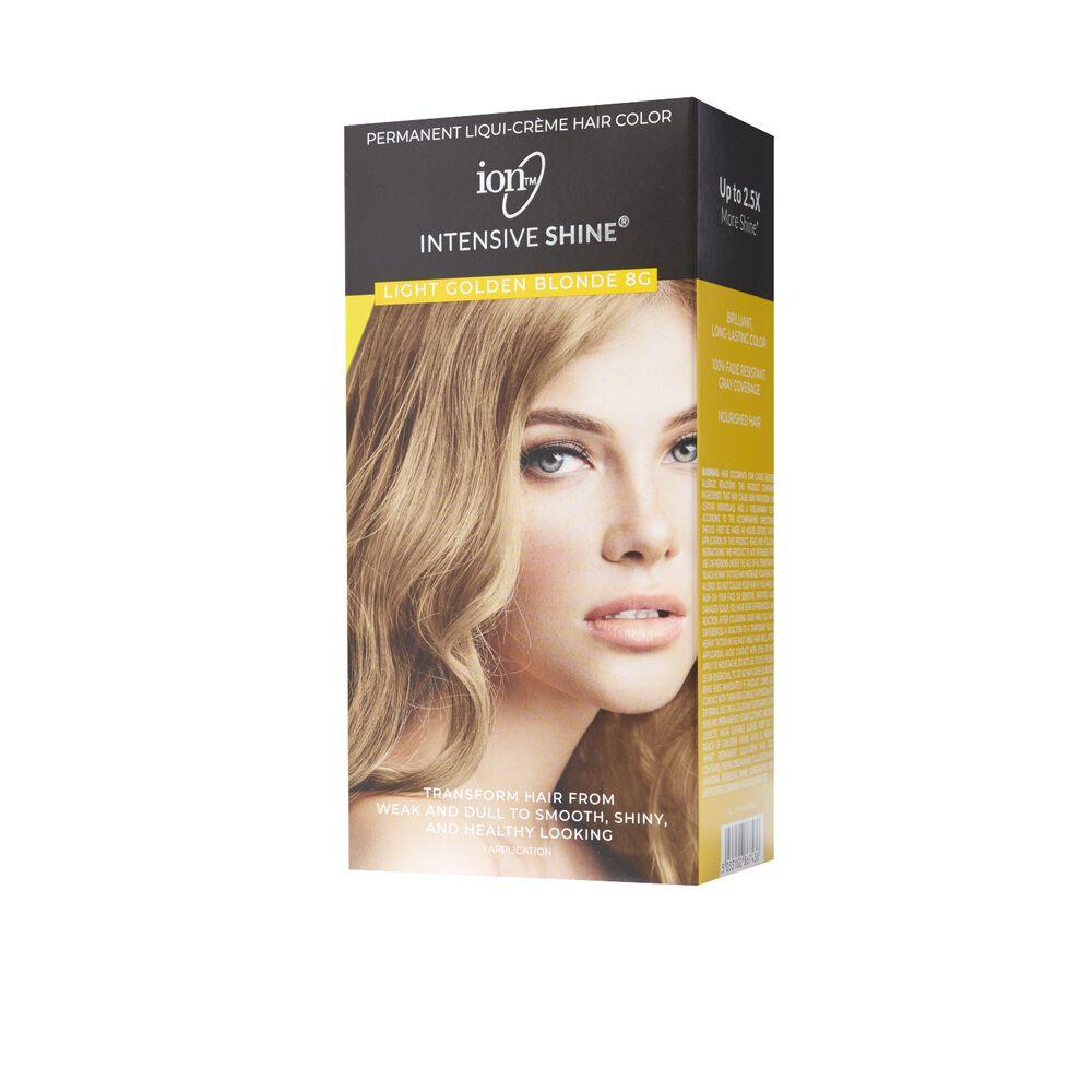 Ion Intensive Shine Hair Color Kit Light Golden Blonde 8g