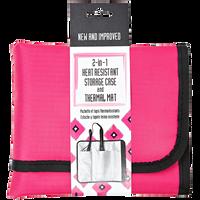 Heat Resistant Storage Case & Thermal Mat-Pink
