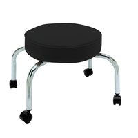 Four Leg Pedi-Stool in Black