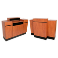 Reve Wild Cherry Standing Reception Desk