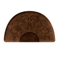 3 X 5 Bella Light Antique Round Mat