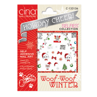 Holiday Cheer Decal Woof Woof Winter