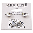 Destine Austrian Crystal Diamond Cut Post Earrings