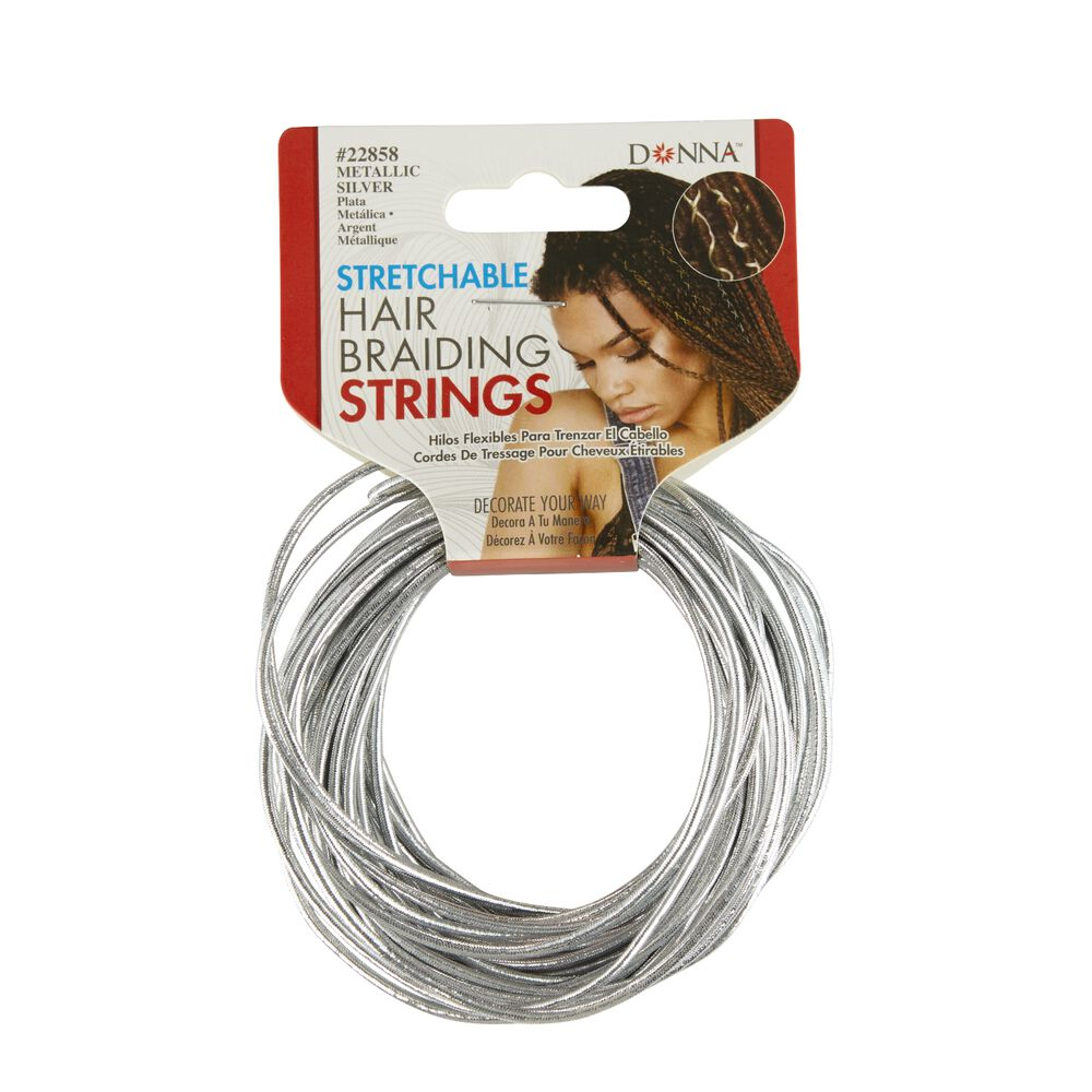 Silver Stretchable Hair Braiding String by Donna  4062a0952932
