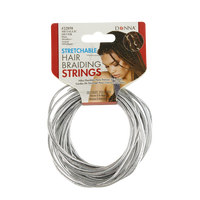 Silver Stretchable Hair Braiding String