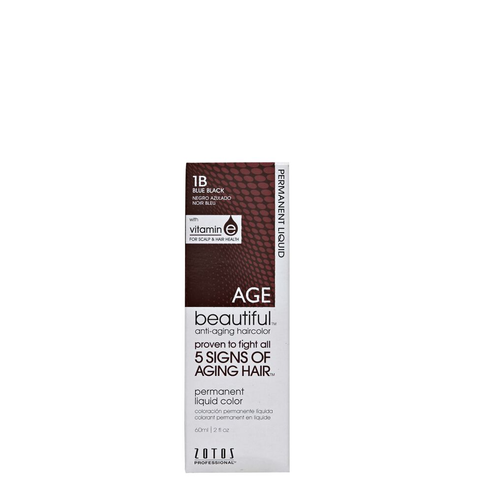 Anti Aging 1b Blue Black Permanent Liquid Hair Color