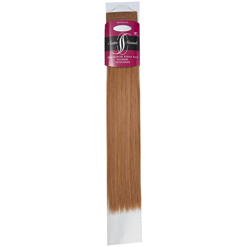 Satin Strands Premium Human Hair Extensions 18 Inch Barcelona