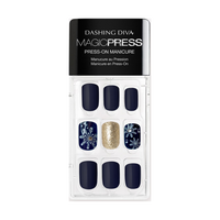 Dashing Diva Magic Press on Nails Let it Snow