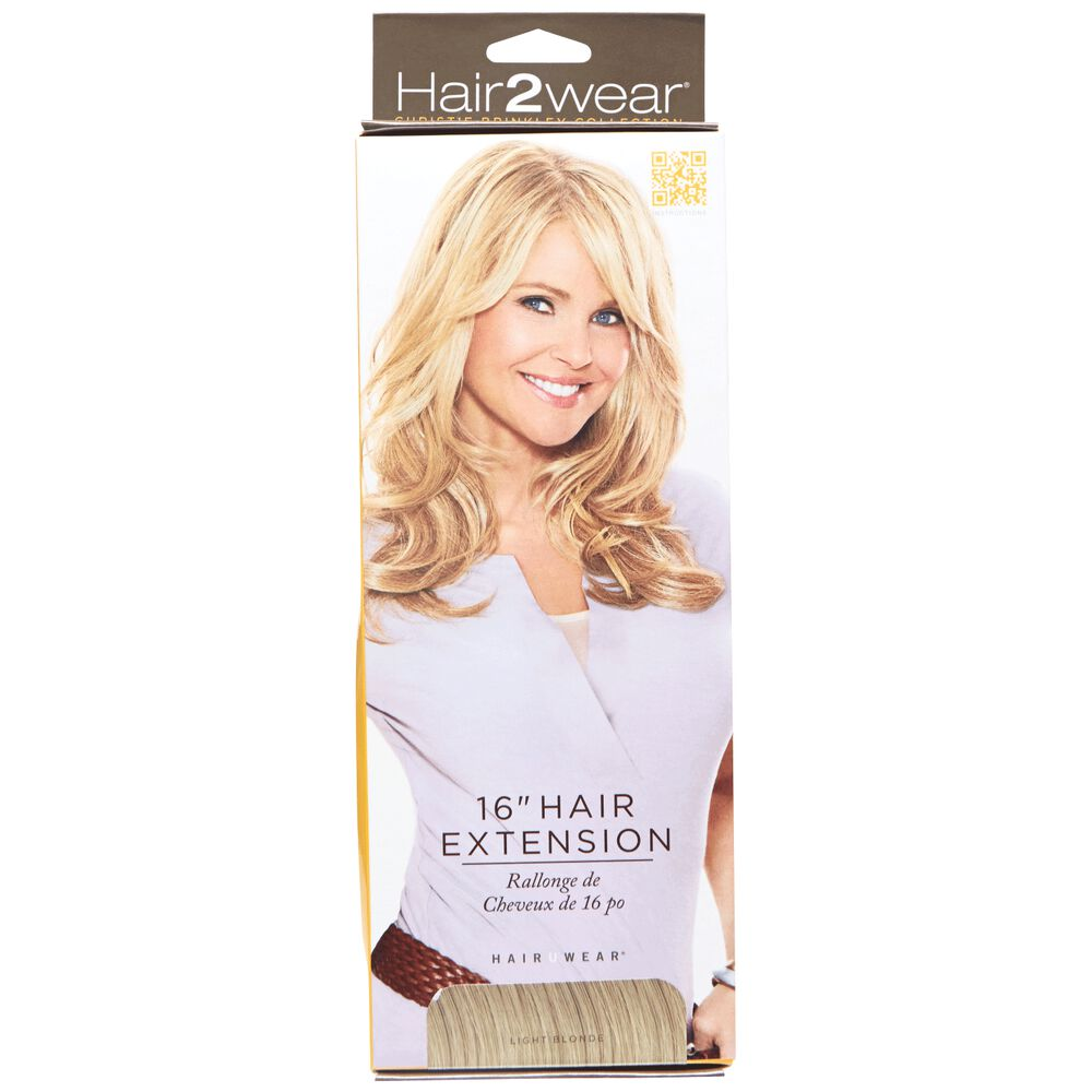 Hair To Wear Christy Brinkley Clip In 16 Inch Hair Extension Light