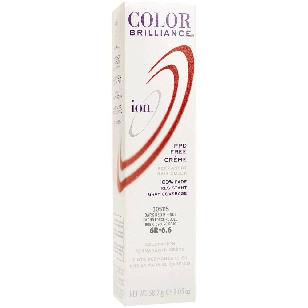 Ion 6r Dark Red Blonde Permanent Creme Hair Color By Color