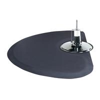 3 x 5 Black Solid Half-Circle Mat