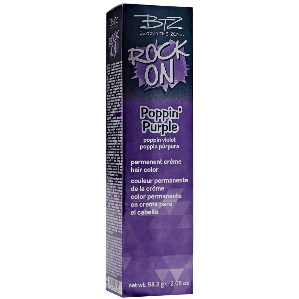 Beyond The Zone Poppin Purple Permanent Creme Hair Color By Rock On
