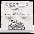 Destine White Pearl 8mm Earrings