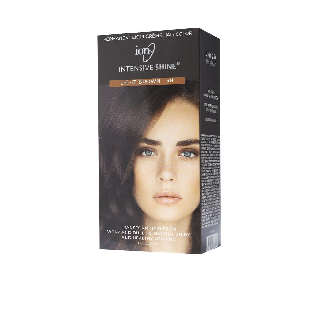 Ion Intensive Shine Hair Color Kit Light Brown 5n