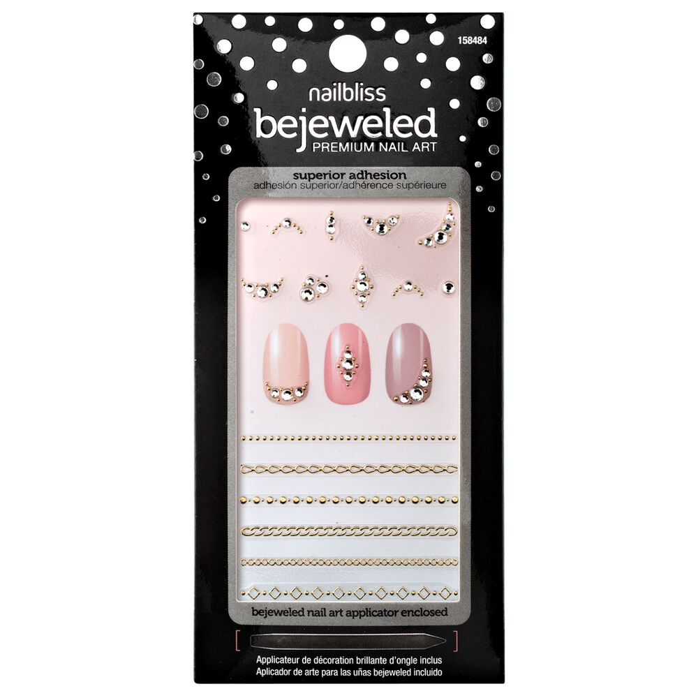 Nail Bliss Chain Linked Bejeweled Nail Art