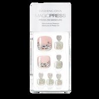 Press On Toe Nails Think Pink