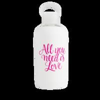 White Sleeve Glass Bottle